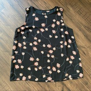 Who What Wear black floral tank